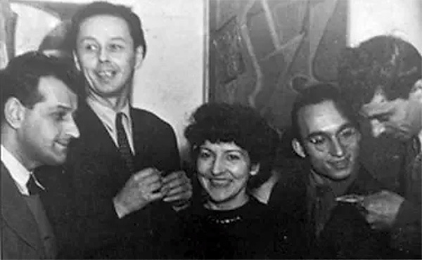 Serge Poliakoff, Victor Vasarely, Denise René, Jean Dewasne et Jean Deyrolle en 1949