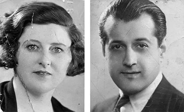 Photos de  passeport, Marcelle Perreur-Loyd et Serge Poliakoff en 1935