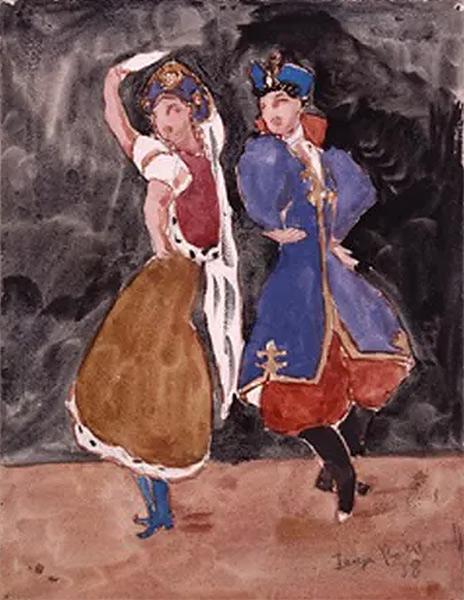 Les danses russes, 1938, gouache sur papier