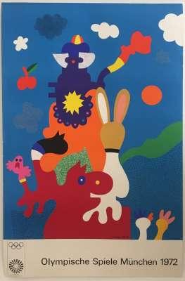 Otmar ALT, Olympische Spiele München, 1972 (Affiche) -  Artistes Divers