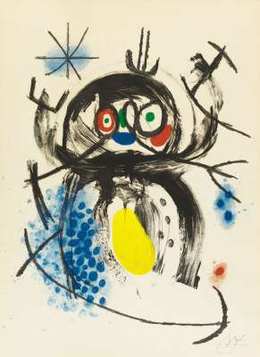 L'automobiliste à moustache (Aquatinte et carborundum) - Joan  MIRO