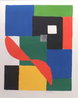 Hélice Rouge (Lithographie) - Sonia DELAUNAY-TERK
