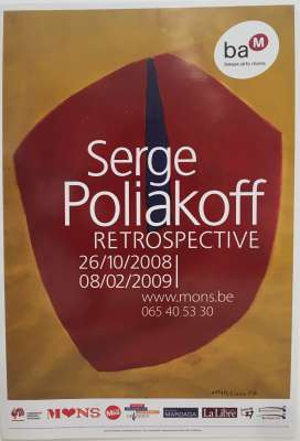 SERGE POLIAKOFF RETROSPECTIVE Mons (Poster) - Serge  POLIAKOFF