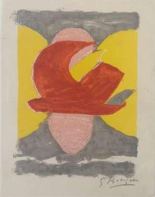 Descente aux enfers (Lithograph) - Georges BRAQUE