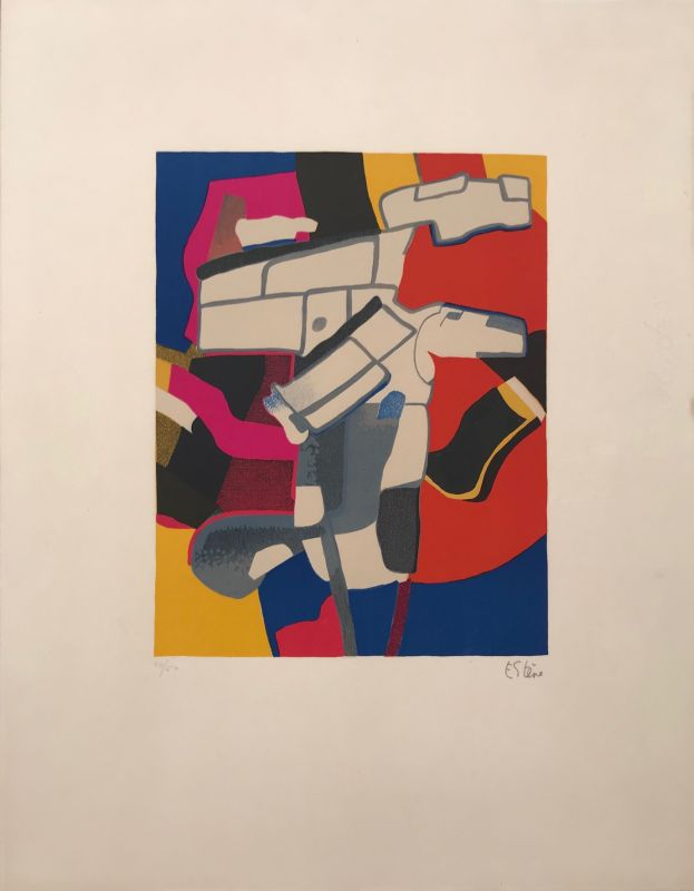 Bougri (Lithographie) - Maurice ESTEVE
