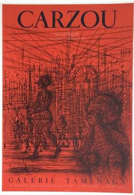 Carzou / Galerie Tamenaga (Affiche) -  Artistes Divers