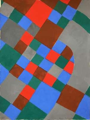 Poesie des mots Poesie des couleurs (Pochoir) - Sonia DELAUNAY-TERK