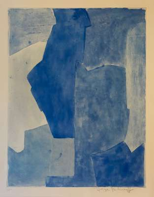 Composition bleue (Etching and aquatint) - Serge  POLIAKOFF