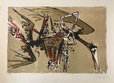 Sans Titre (Lithographie) - Wifredo LAM