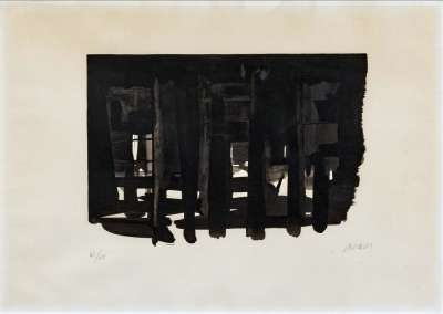 Lithographie n° 16 (Lithograph) - Pierre  SOULAGES