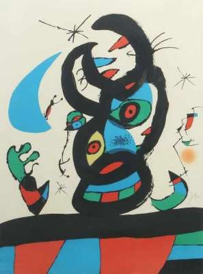 Montroig I (Lithographie) - Joan  MIRO