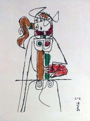 Taureau (Lithographie) -  LE CORBUSIER
