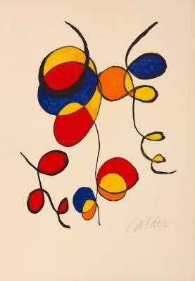 Spiral (Farblithographie) - Alexander CALDER
