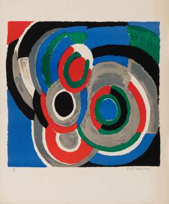 Hommage à Stravinsky (Lithographie) - Sonia DELAUNAY-TERK