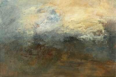 Ciel et Terre (Huile sur papier) - Véronique NEROU