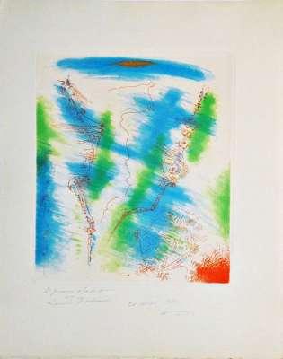 Pour Saint-Pol Roux (Lithographie) - André  MASSON