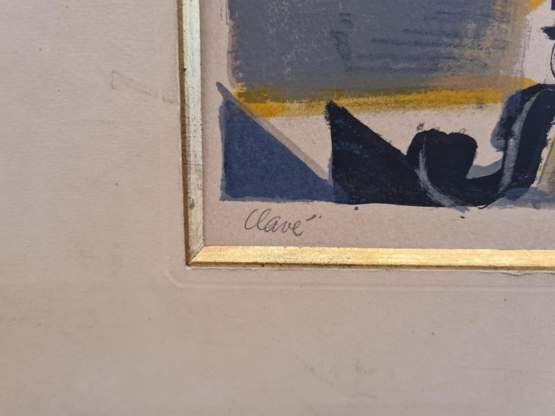 La Femme-peintre au coq (Lithographie) - Antoni CLAVE