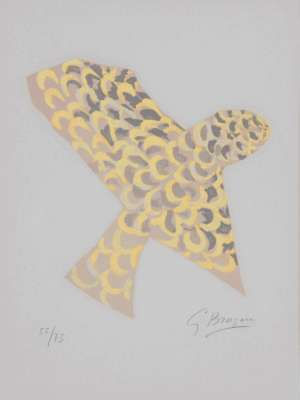 """The bird of prey """"Lettera Amorosa"""" (Lithograph) - Georges BRAQUE"""