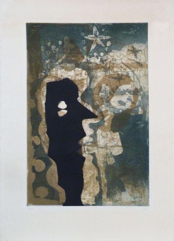 Roi Noir (Lithographie) - Antoni CLAVE