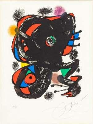 Planche pour XXe siècle n° 46 (Lithographie) - Joan  MIRO