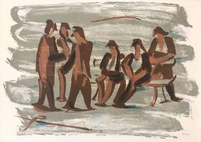 Force de la mer II (Lithograph) - Jean HELION