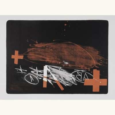 A effacé (Lithographie) - Antoni  TAPIES