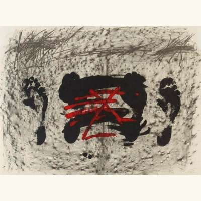 Nocturne matinal (Lithographie) - Antoni  TAPIES