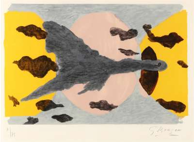 Equinoxe (Lithographie) - Georges BRAQUE