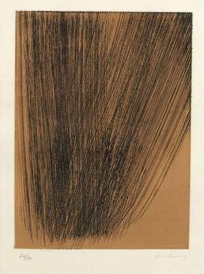 Héraclite planche 4 (Eau-forte et aquatinte) - Hans HARTUNG