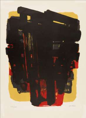 Lithographie n° 8 (Lithographie) - Pierre  SOULAGES