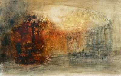 Marais (Huile sur papier) - Véronique NEROU