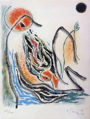Sans titre (Lithographie) - Gustave  SINGIER