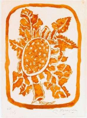 Fleurs d'Automne (Lithographie) - Georges BRAQUE