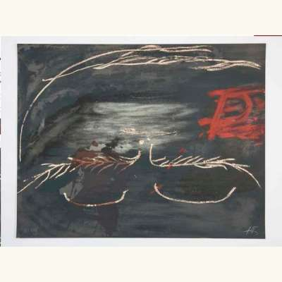 Hommage à Picasso (Lithographie) - Antoni  TAPIES