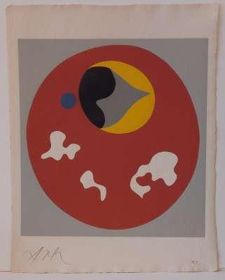 Soleil recerclé (Wood engraving) - Hans ARP