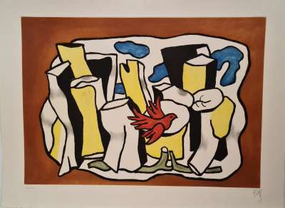 Red Bird in the Woods (Aquatint) - Fernand LEGER
