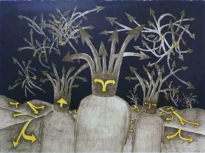 Jean-Michel FOLON (Farblithographie) -  Artistes Divers
