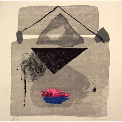 Aras I (Lithographie) - Giuseppe  SANTOMASO