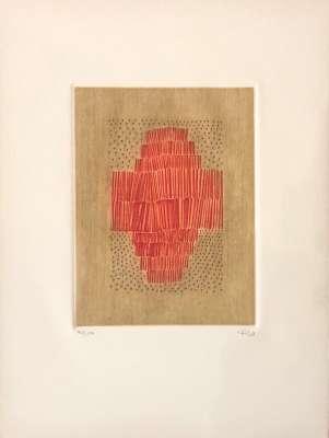 Rouge en croix (Engraving) - Arthur Luiz  PIZA