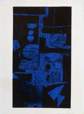 Bleu Noir (Eau-forte et aquatinte) - Antoni CLAVE