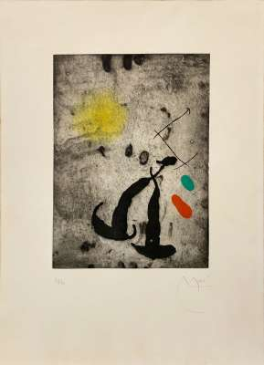 Le Fugitif (Aquatinte) - Joan  MIRO