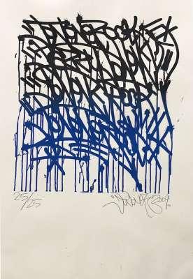 "JONONE (1963) / ""Urban Calligraphy"" (Sérigraphie) -  STREET ART"