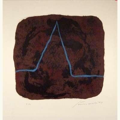 Nietzsche (Lithographie) - Giuseppe  SANTOMASO