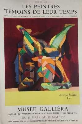 MUSEE GALLIERA / JACQUES VILLON / LES PEINTRES (Affiche) -  Artistes Divers