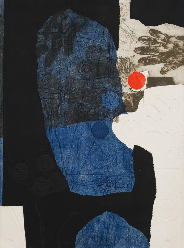 Point Rouge (Aquatinte et carborundum) - Antoni CLAVE