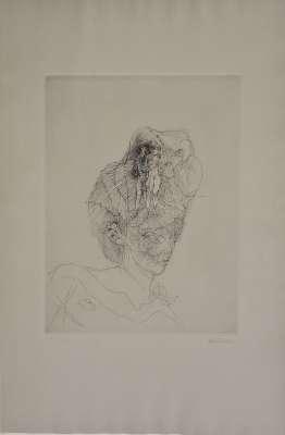Doriane ou Chapeau-filles (Eau-forte) - Hans BELLMER