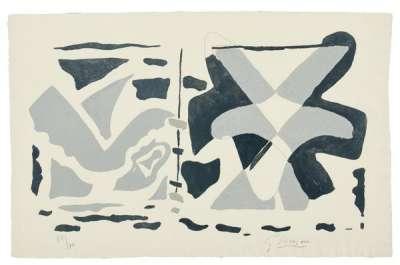 Fenêtre II : oiseau gris (Gravure) - Georges BRAQUE