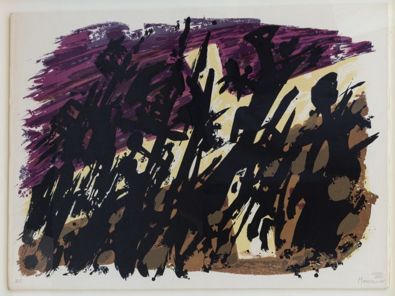 Composition abstraite (Lithographie) - Alfred  MANESSIER