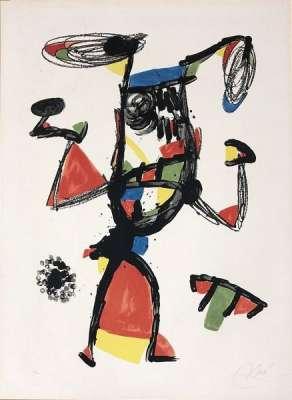 Majorette (Lithographie) - Joan  MIRO