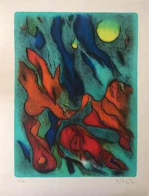 Envol (Lithograph) - Gustave  SINGIER